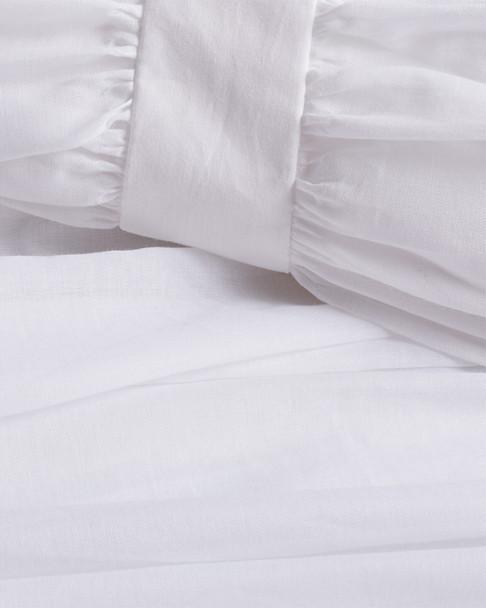 BOHO BED Voile Ruched Duvet Set White~3030820739
