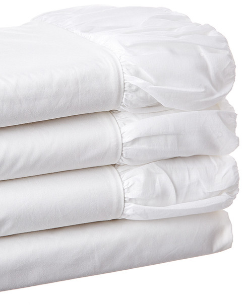 BOHO BED Voile Ruched Sheet Set White~3033820743