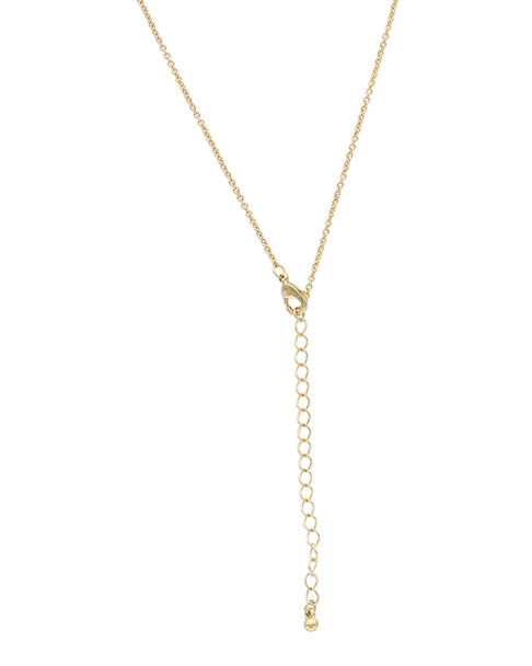 Sparkling Sage 14K Plated Resin Elongated 30in Drop Necklace~60308919040000