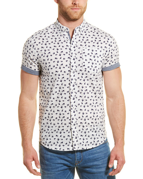 Heritage by Report Collection Slim Fit Woven Shirt~1010242777