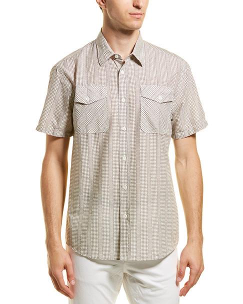 Billy Reid Graham Standard Fit Woven Shirt~1010251586