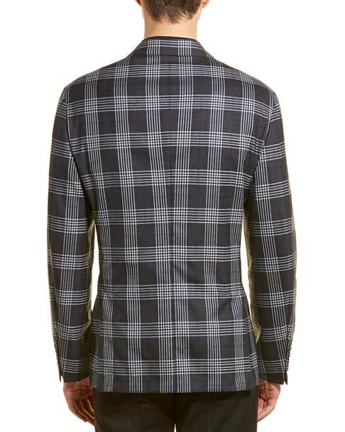 Hickey Freeman Plaid Wool & Silk-Blend Jacket~1011327845