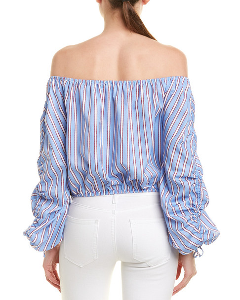 Vintage Havana Off-the-Shoulder Top~1411369613