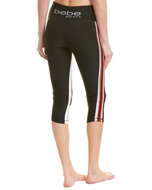 Bebe Sport Racing Stripe Capri Legging~1411522554