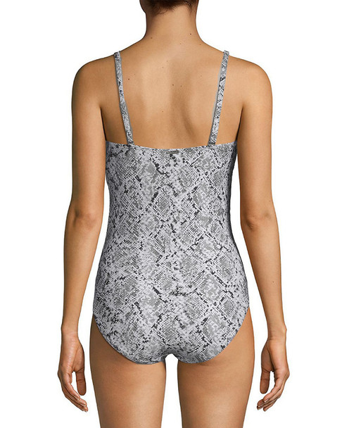 Calvin Klein Bandeau Snake-Print Swimsuit~1411789681