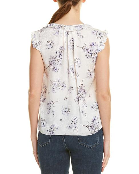 Rebecca Taylor Hydrangea Silk Top~1411964253
