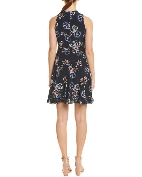 Rebecca Taylor Faded Knot Silk A-Line Dress~1411964269