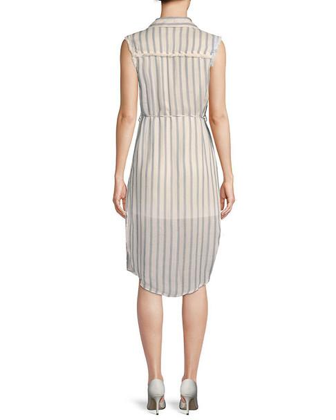 Moon River Frayed Striped Dress~1411976044