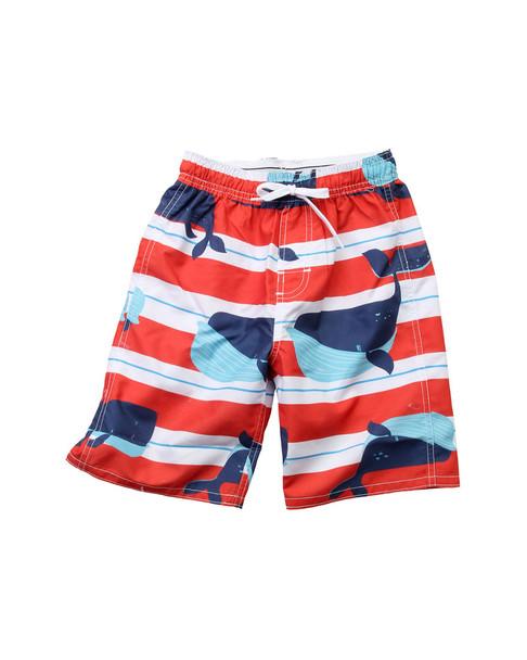 Wes Willy Whale Strip Swim Trunk T-Shirt~1511052941