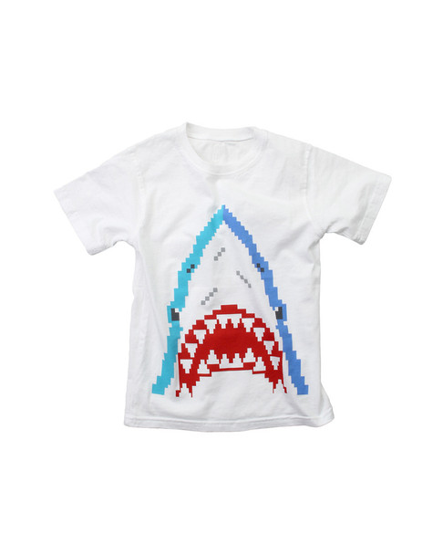 Wes Willy Bitmap Shark T-Shirt~1511052950