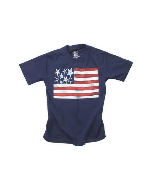 Wes Willy Starfish Flag T-Shirt~1511052954