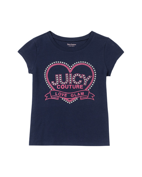 Juicy Navy Pink Heart Fashion Top~1511198816