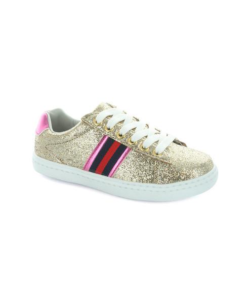 Hoo Olivia Side Stripe Lace Sneaker~1511238672