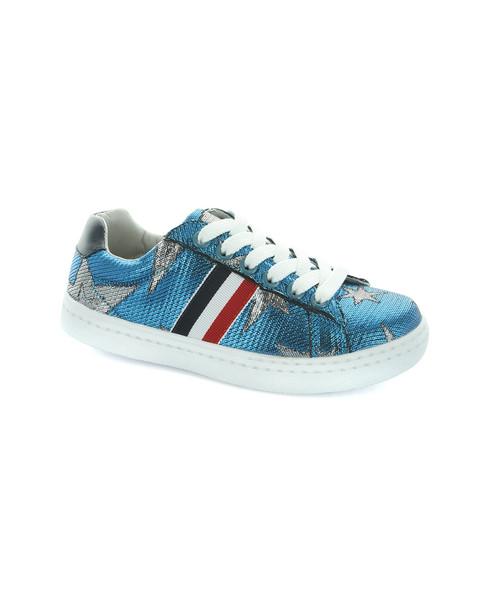 Hoo Ava Star and Side Stripe Lace Sneaker~1511238677