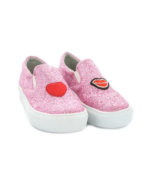 Hoo Ruby Heart & Lips Slip-On Sneaker~1511238681