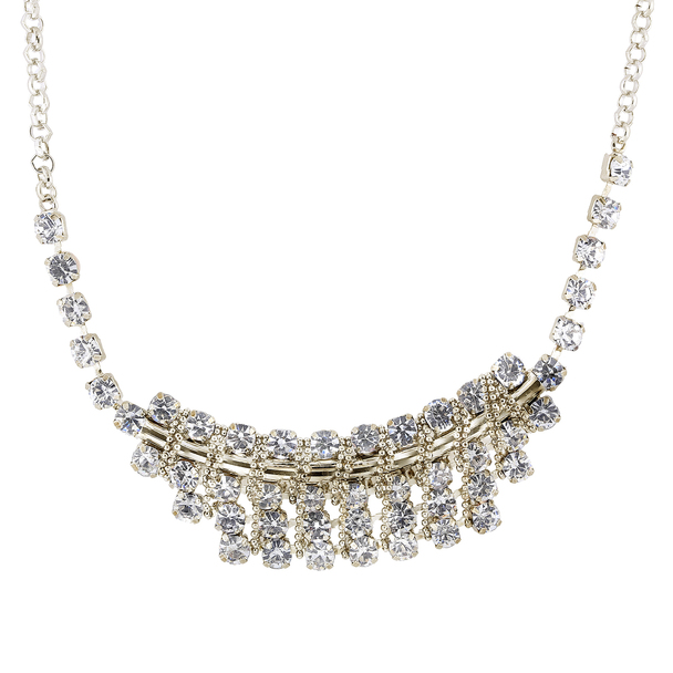 Gold-Tone Crystal Bib Necklace~43269