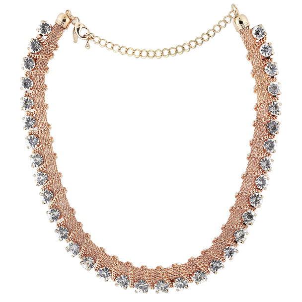 Gold-Tone Crystal Necklace~43430