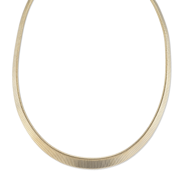 "18"" Adjustable Gold-Tone Omega Mesh Collar Necklace~47309"