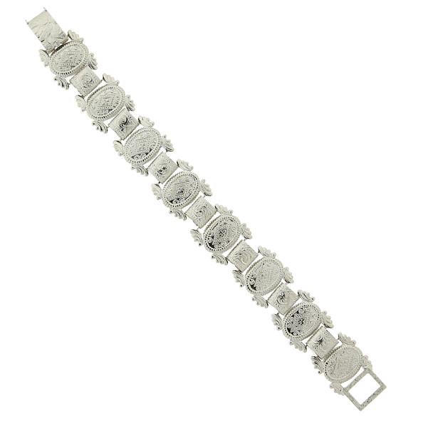 Silver-Tone Clasp Bracelet~62816
