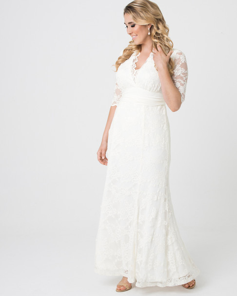 Kiyonna Women's Plus Size Amour Lace Wedding Gown~14130905-IVY