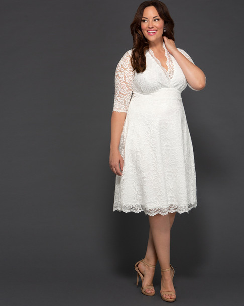 Kiyonna Women's Plus Size Wedding Belle Dress~19150905-IV2
