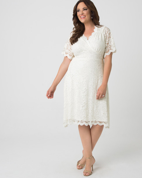 Kiyonna Women's Plus Size Graced With Love Wedding Dress~19170901-IVY