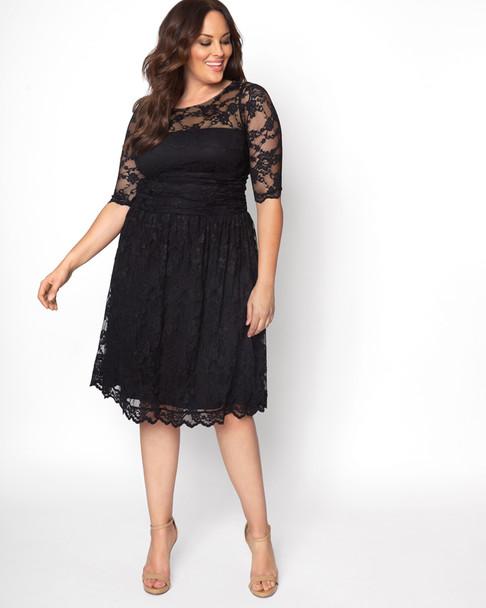 Kiyonna Women's Plus Size Luna Lace Dress~Black*12120901
