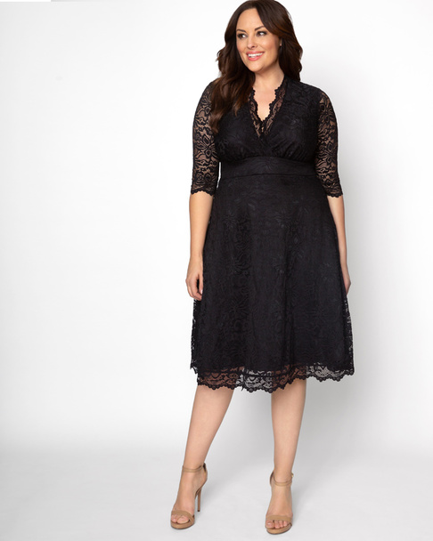 Kiyonna Women's Plus Size Mademoiselle Lace Dress~Black*12150901