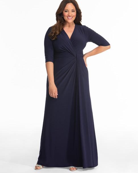 Kiyonna Women\'s Plus Size Romanced by Moonlight Gown~Navy/Blue*12182203