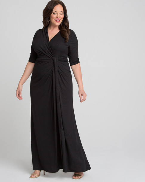 Kiyonna Women's Plus Size Romanced by Moonlight Gown~Black*12182203