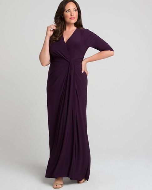 Kiyonna Women's Plus Size Romanced by Moonlight Gown~Purple/Plum*12182203