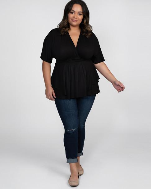 Kiyonna Women's Plus Size Promenade Top~Black*21141804