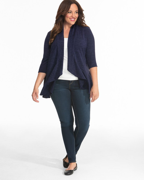 Kiyonna Women's Plus Size Love Story Cardigan~Navy/Blue*93162501