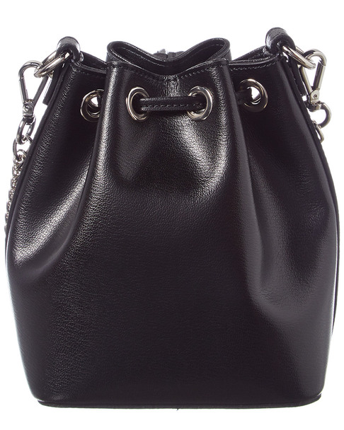 Valentino by Mario Valentino Jules Madras Leather Bucket Bag~11600277400000