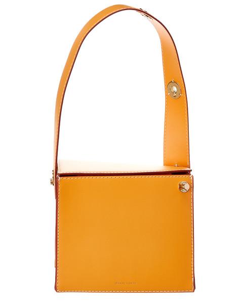 Danse Lente Square Leather Shoulder Bag~11602234520000
