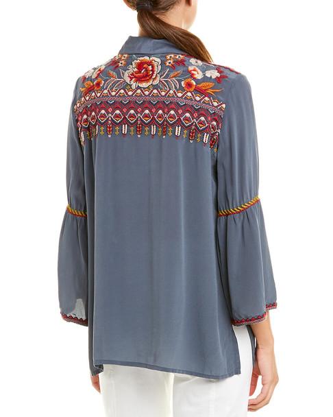 Johnny Was Silk Shirt~1411140456