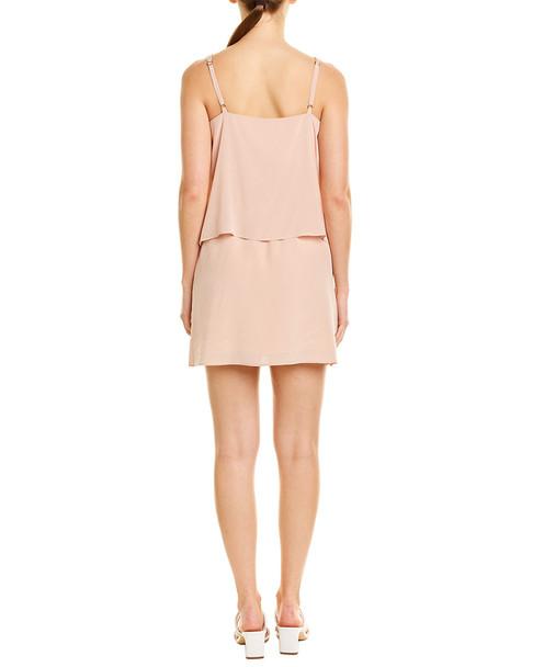 Lavender Brown Popover Silk Mini Dress~1411158602