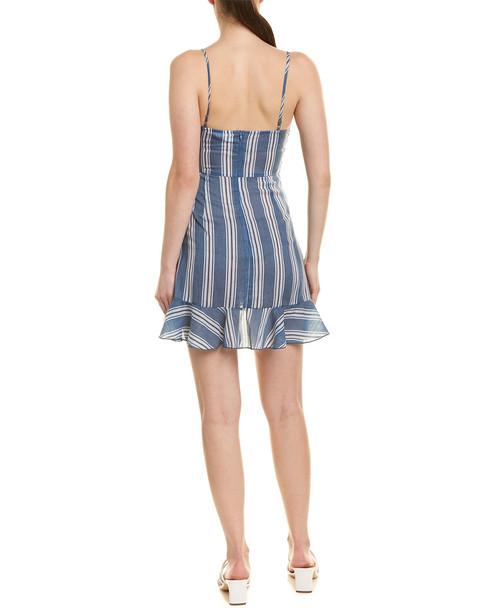 L'ATISTE Tie Front Mini Dress~1411199442