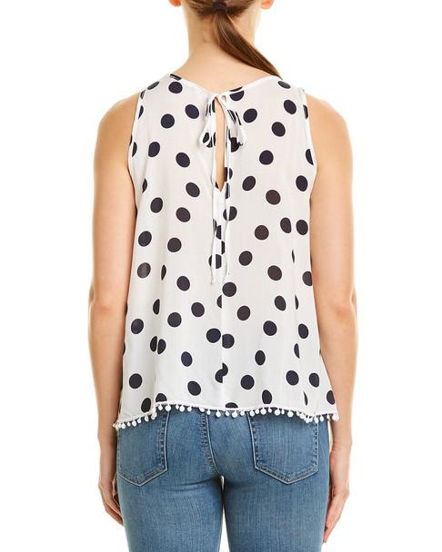 Three Dots Pom Pom Swing Top~1411218151