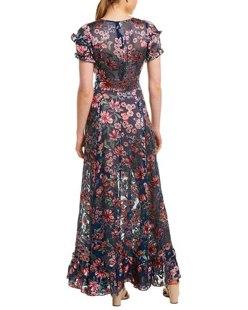 For Love & Lemons Floral Silk-Blend Maxi Dress~1411257664