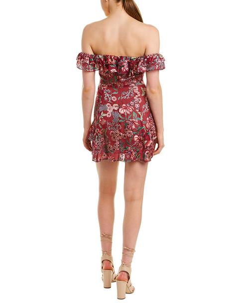 For Love & Lemons Flora Silk-Blend Mini Dress~1411257667