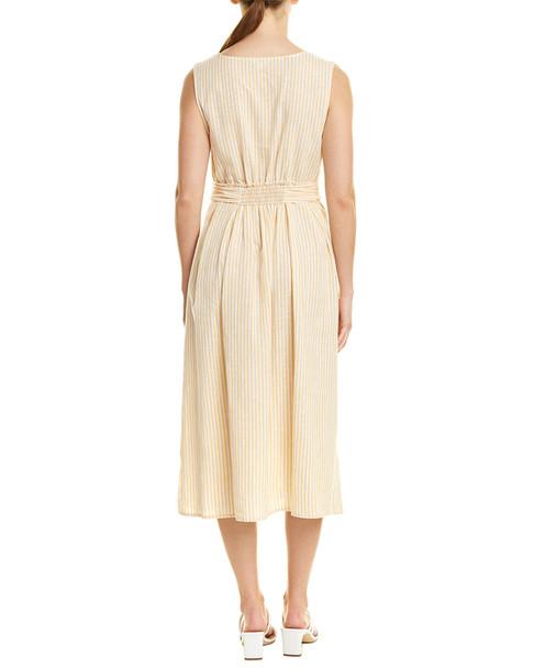 Max Studio Linen-Blend Midi Dress~1411445798