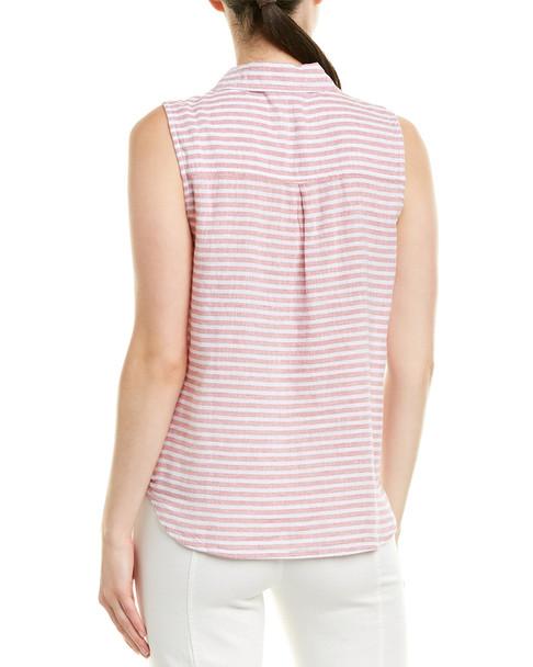 beachlunchlounge Linen-Blend Shirt~1411528008