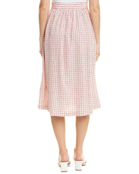 Max Studio Linen-Blend Midi Skirt~1411916125