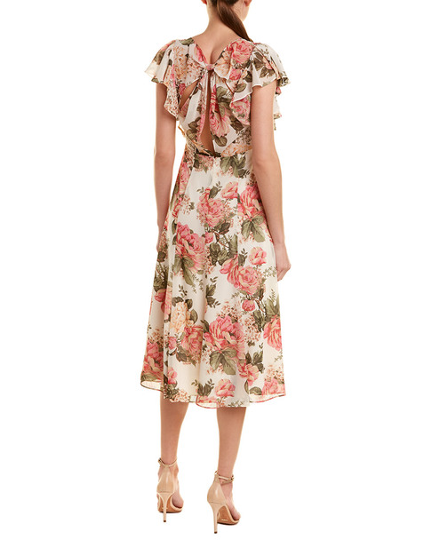 Divine Heritage Ruffle Midi Dress~1411987385