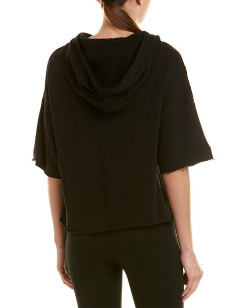 Betsey Johnson Raw Edge Novelty Cropped Sweatshirt~1411990710