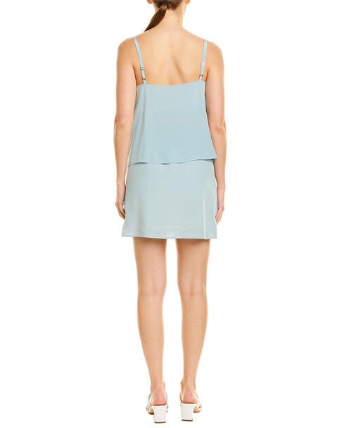 Lavender Brown Popover Silk Mini Dress~1411992764