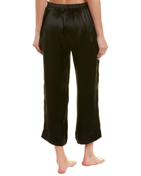 commando Wide Leg Cropped Silk Pant~1412229926