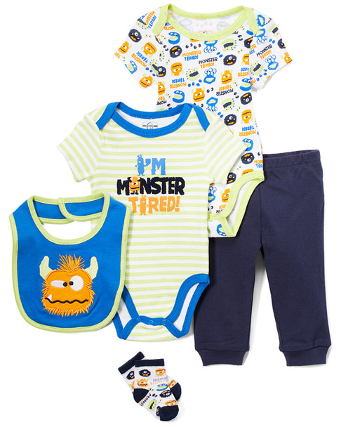 Q by Quiltex 5pc Monster Tired Set~1511225867