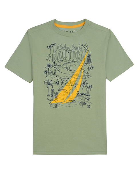 Nautica Ss Tiki Print T-Shirt~1511258838